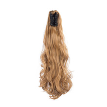 Valenwigs Ponytail Extension Long Wavy Claw Clip On Synthetic Jaw in Hair piece 22For Black White Women