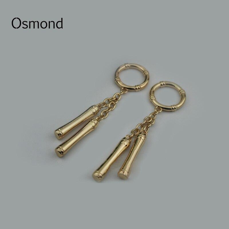 Osmond 1Pcs Metal Bag Pendant 2.5CM DIY Making Hardware Handbag Decoration Gold Chain Ornament Key Chain Bag Accessories Parts