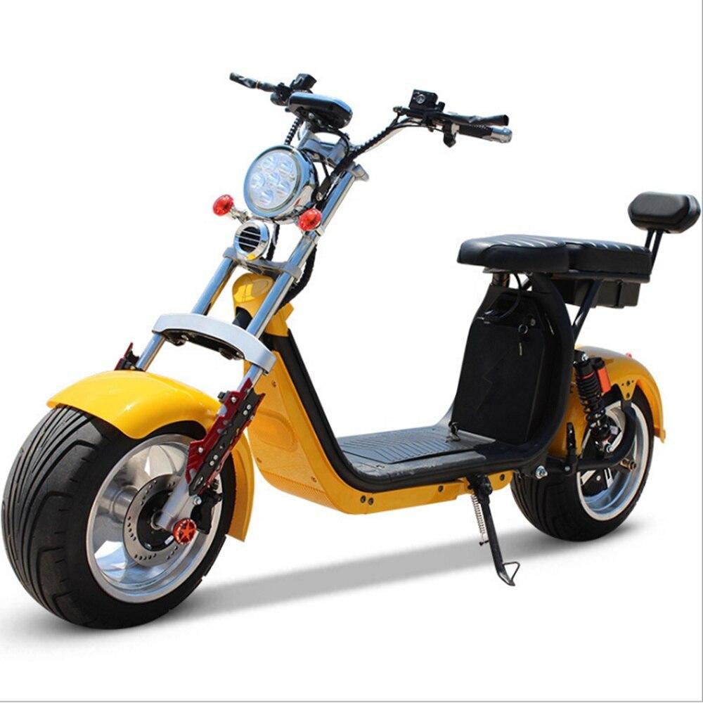 Электрический скутер Citycoco, мотоцикл, скутер, бесщеточный двигатель, электрические мотоциклы EEC, взрослые, мощность 2000 Вт, аккумулятор 60 в