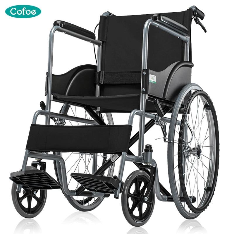 Cofoe Yidong Cadeira de Rodas Cadeira de Rodas Idosos Cadeira de Rodas de Viagem Do Trole Portátil Dobrável Para os Idosos e Pessoas Com Deficiência & Entre Pais e filhos