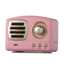 Estéreo Hifi Retro con Bluetooth V4.1, altavoz portátil inalámbrico Vintage, 2 (2,0), 5W, plástico, 3W, CC, Gama Completa, 50hz-20khz