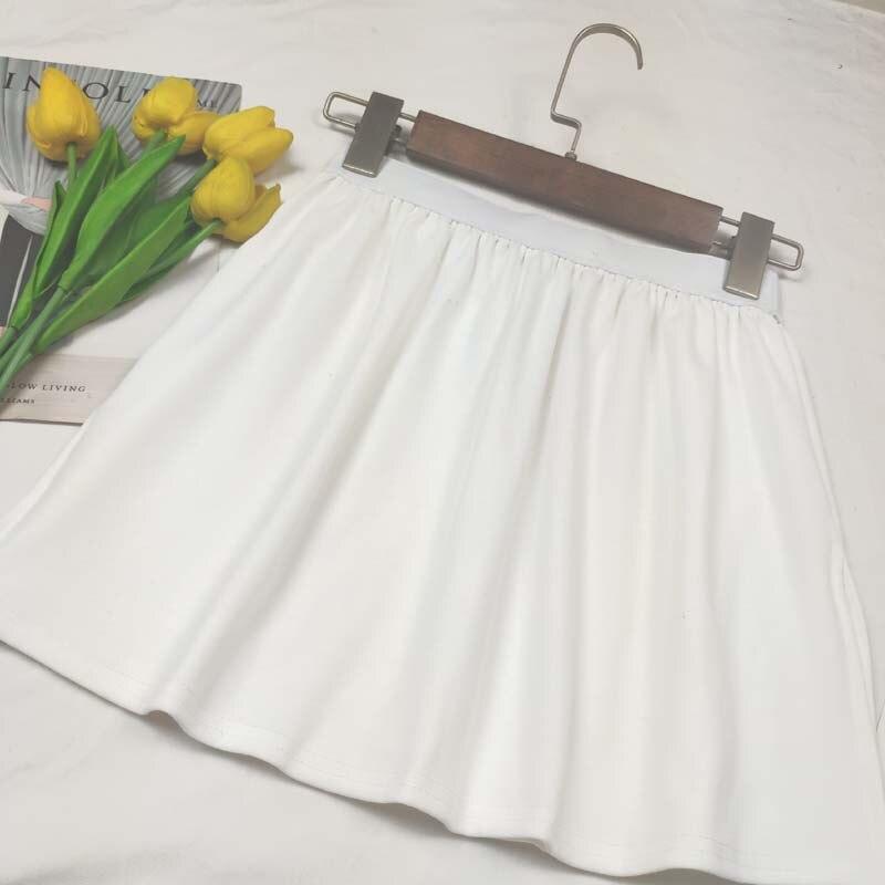 Thick Base Skirt Women's Versatile Collocation Hoodie Partner White Edge T-shirt Fold Wear Underwear Small Short Skirt Half-leng
