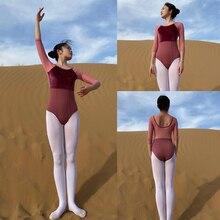 Ballett Tanzen Trikot Erwachsene Erweiterte Qualität Nahen Sleeve Praxis Ballett Tanzen Tragen Frauen Gymnastik Trikot Tanz Overall