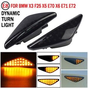 Image 5 - BMW için X3 F25 X5 E70 X6 E71 E72 2008 2014 LED dinamik dönüş sinyal ışığı yan çamurluk Marker lamba sıralı göstergesi flaşör