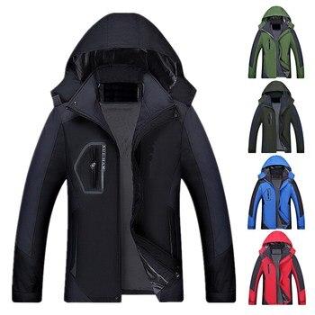 ZOGAA Solid Waterproof Jacket Hooded Zipper Clothing Mountaineering Outdoor Sports Wind Speed Dry Rain Jacket Colors 4Colors фото