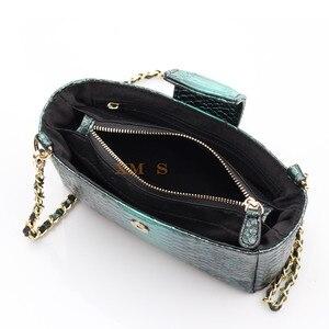 Image 5 - Женская сумка через плечо XMESSUN, модная дизайнерская сумка из кожи питона с тиснением, 2020