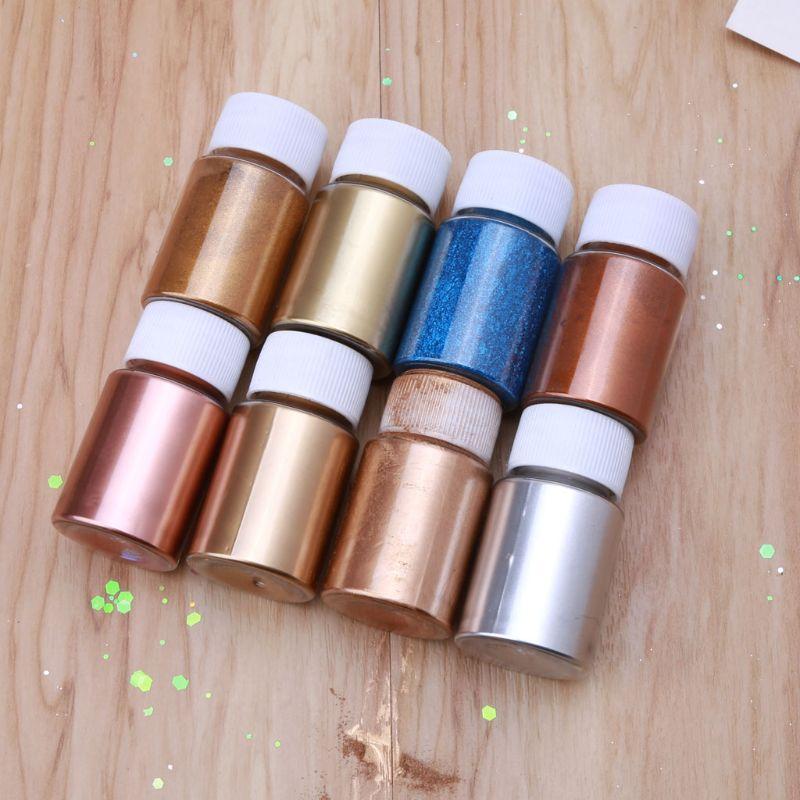 Медный металлический красящий порошок, пигмент для смолы, ювелирные Металлические оттенки, слюда, жемчужный порошок, пигмент, краска для эп...