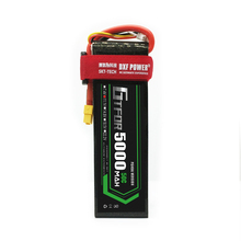 цена на GTFDR RC Lipo Battery 11.1V 5000mah 50C AKKU Batteria For RC Model Trex 500 Helicopter TRX Car Boat