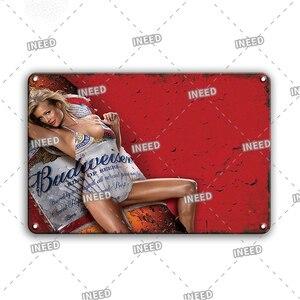 Винтаж Ирландия пиво Плакат Металлический Знак Ретро популярные сексуальные винно девушка жестяные таблички для Тики Бар Паб Декор бляшек Кухня дверная табличка