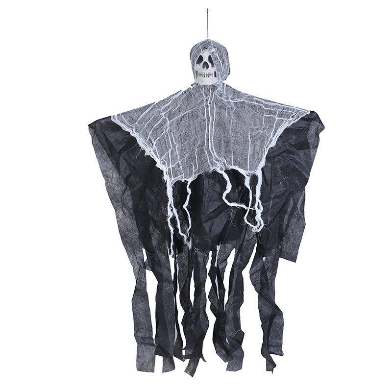 6 PCS Halloween Hanging Ghost Prop Scary Decor Halloween Ghost Decorations 3 Colors Design