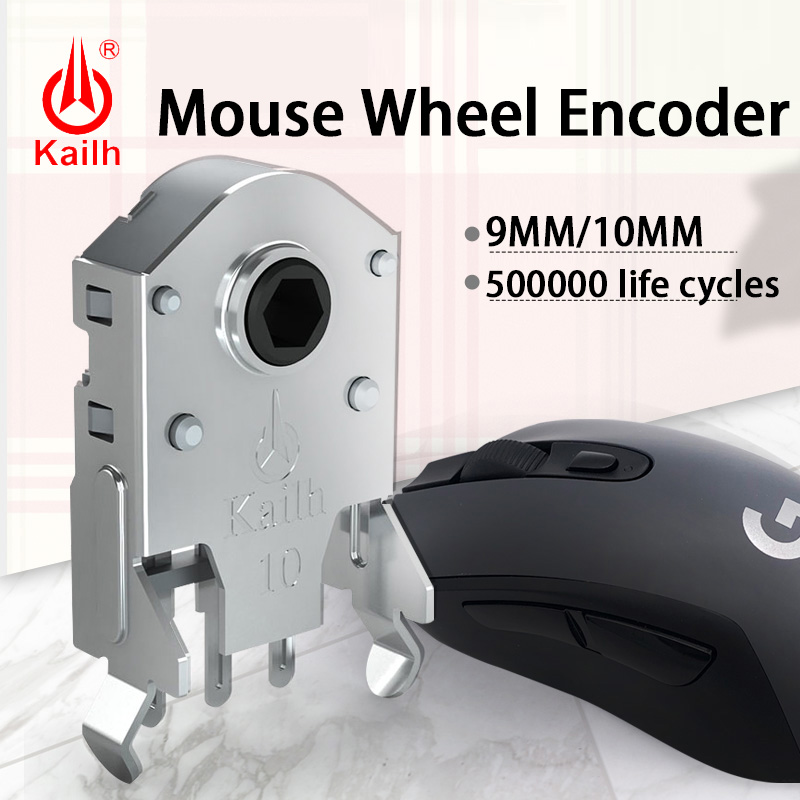 5pcs Kailh 9/10mm Rotary Mouse Scroll Wheel Encoder with 1.74 mm semi-through shaft hexagonal size Use it on logitech's mouse