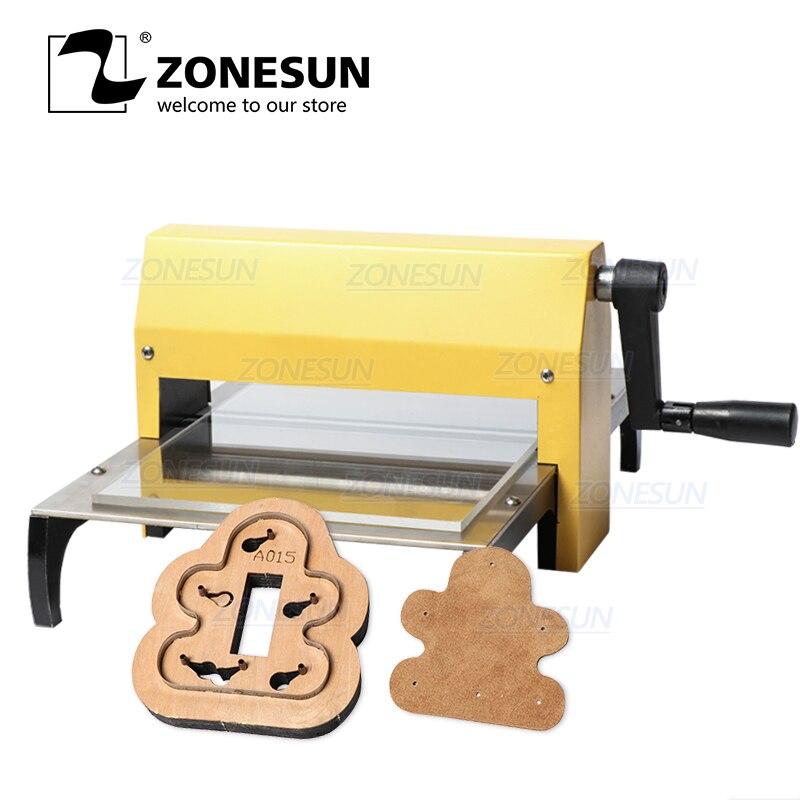 ZONESUN Manual Leather Die Cutting Machine Handmade Earring Die Cuts Embossing Machine For Punching Clicker Die Steel Rule DiePunching   -