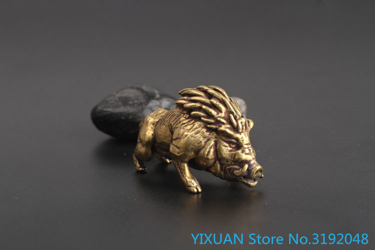 Bronze Boar Pendant Handle Handicraft