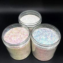 Boîtes de poudre de paillettes holographiques pour les ongles, 1 flacon et 3 tailles de 0,2 0,4 et 1 mm, poussière pour nail art avec un rendu irisé, décorations Tr#51,