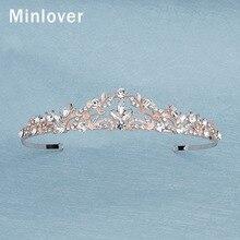 Bride Crown Tiaras Headpiece-Hg252 Rosegold-Color Headband Hair-Accessories Prom-Diadem