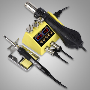 JCD 8898 Soldering Station LCD Digital Display Hot Air Gun Quick SMD Rework Welding Station Heat Gun for Phone Repair Tools 800W