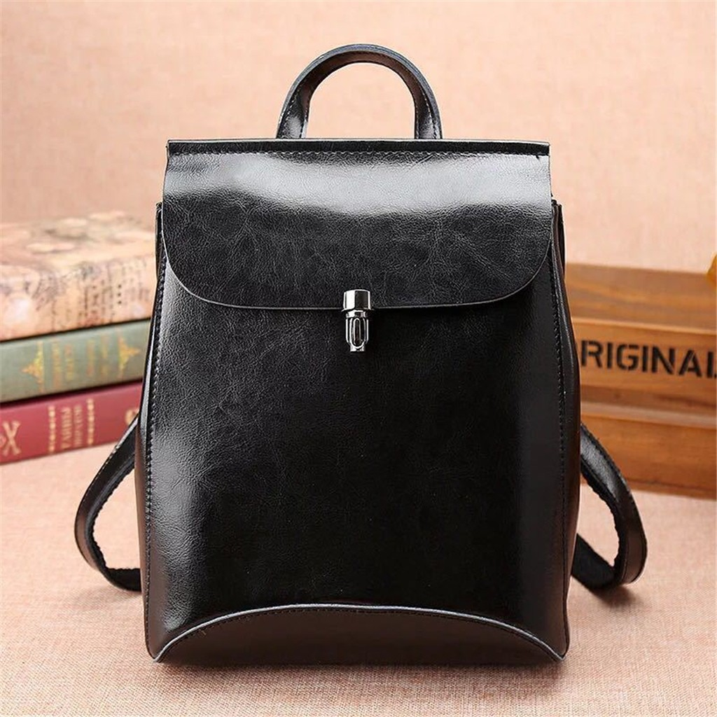 Hf4ffae9252b941ae83ec88077815375dK - Fashion Ladies Shoulder Leather Multi-Layer Backpack Women's Shoulder Bag Black