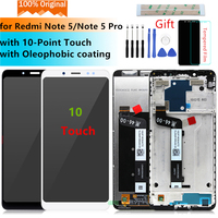 Original for Xiaomi Redmi Note 5 LCD Display Digitizer with Frame 10Touch for Redmi Note 5 pro display Replacement Repair Parts