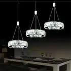 Cristal bougeoir luxe argent jardin cristal LED lustre lumière lustre lampe luminaire moderne lustre éclairage - 2