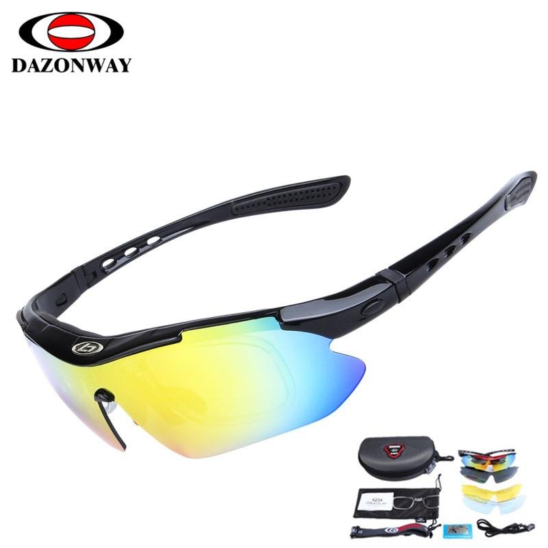 DropShipping Polarized Cycling Glasses Sunglasses Men Acetate Frame Polycarbonate 5 Lens UV400 Fishing Goggles Running Eyewear