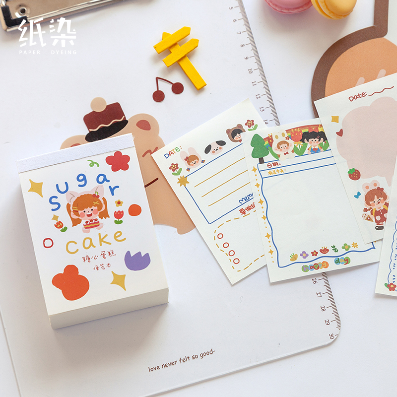 6PCS/LOT soft candy series lovely fresh message paper memo pad