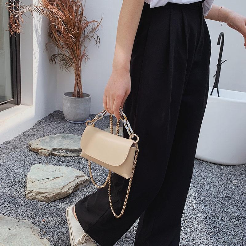 Women Travel Bags PU Leather Solid Color chain crossbody Bag Female Luxury Handbags Women Bags Designer Sac A Main Femme