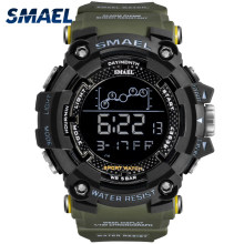 Mens Military Watch Water resistant SMAEL vigilanza di Sport Dell'esercito led da polso Digitale Cronometri per il maschio 1802 relogio masculino Orologi(China)