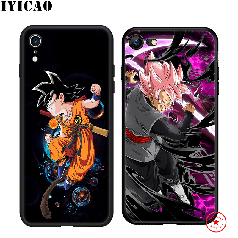 IYICAO Lovely DBZ Little Goku Soft Phone Case for iPhone 11 Pro XR X XS Max 6 6S 7 8 Plus 5 5S SE Silicone TPU 7 Plus in Fitted Cases from Cellphones Telecommunications
