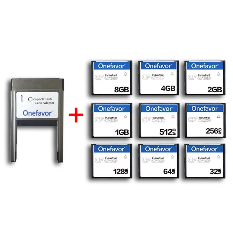 Карта памяти onefavor 32 Мб 64 Мб 128 МБ 256 МБ 512 МБ 1 Гб 2 ГБ 4 ГБ 8 ГБ CF с адаптером для PCMCIA карты памяти для промышленных машин