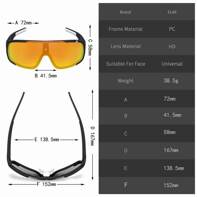 Elax marca 2019 novo óculos de ciclismo ao ar livre das mulheres dos homens uv400 mountain bike eyewear mtb bicicleta esporte ciclismo óculos de sol 2