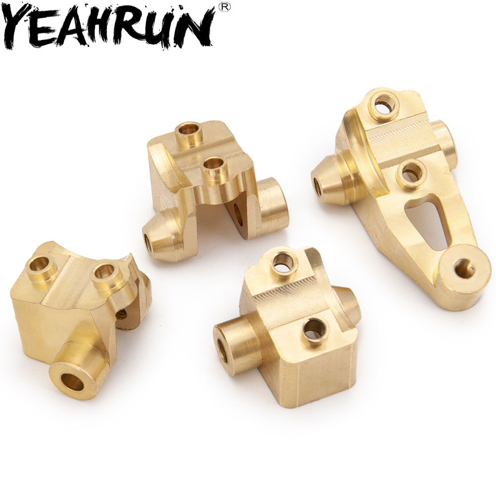 YEAHRUN 45g 1Set CNC Heavy Duty Brass Front Rear Axle Lower Shock Mount For Traxxas TRX-4 1/10 RC Crawler