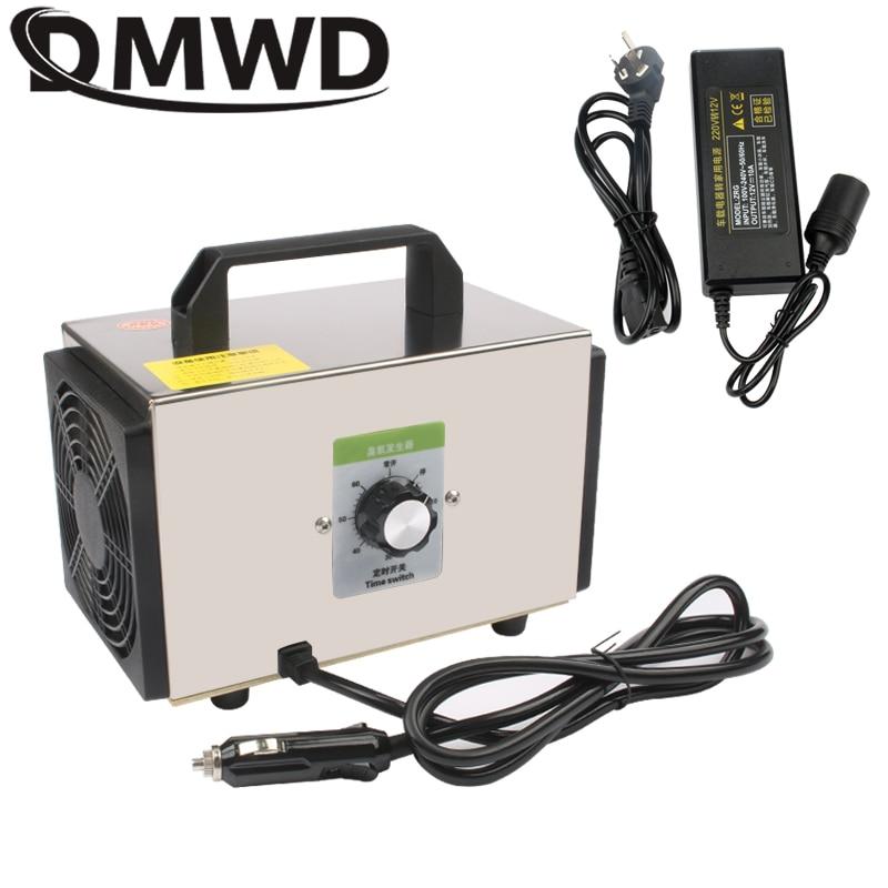 DMWD 12V/220V 10g Home Car Ozone Generator Ionizer Auto Air Purifier Ozonizer Cleaner Deodorizer Sterilizing Machine Sterilizer