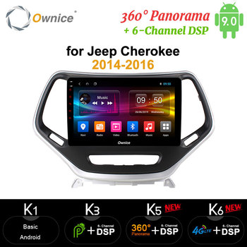 Ownice Octa Core Android 9.0 Car DVD GPS Navi Player carplay 4G LTE DSP 360 Panorama Optical for Jeep Cherokee 2014 2015 2016