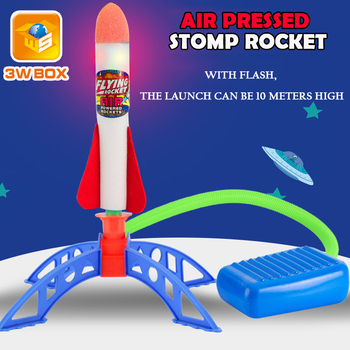 Air Pressed Stomp Rocket Pedal Games Outdoor Sports kids league Launchers Step Pump skittles Children Foot Family board Game toy