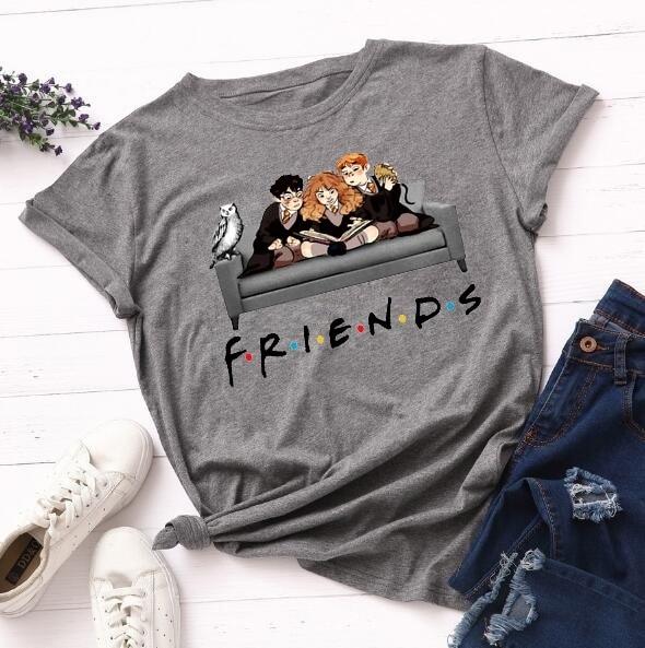 Friends Tv Show Femme Shirts Women T Shirt Harajuku Summer 90s Tshirt Streetwear Womens Tops Tees Graphic T-shirt Short Sleeve