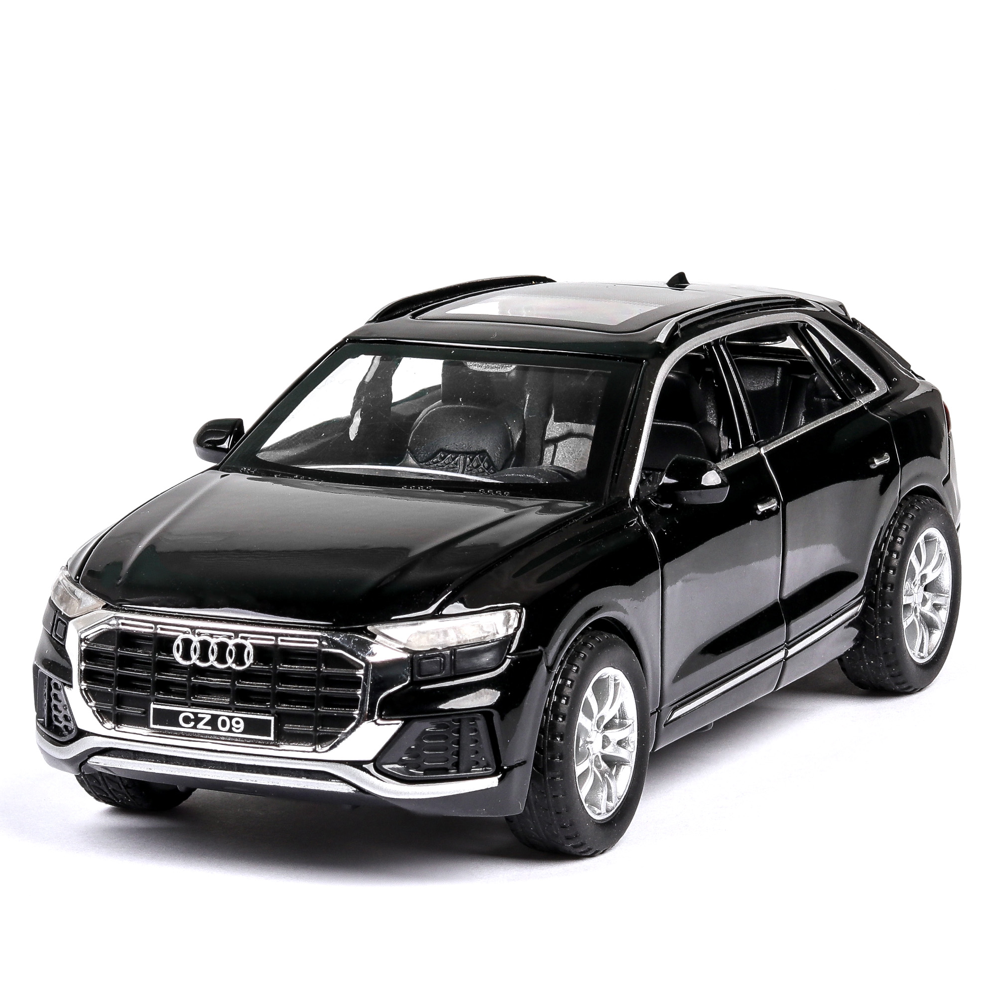 1/32 AUDI Q8 Alloy metal car Model diecast toys for kids collection/Die Cast Vehicles pull-back vehicle kids gift car model #ZW image
