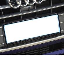 Lsrtw2017 Magnesium Alloy Carbon Fiber Car License Frame Trims for Audi A3 A4 A6 Q3 Q5 Q5 Q7 lsrtw2017 leather car key case chain buckle chain for a4 a6 a3 q3 q5 q5 q7
