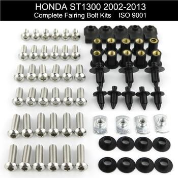 For Honda ST1300 2002-2013 Complete Full Fairing Bolts Kit Bodywork ST1300 2003 2004 2005 2006 2007 2008 2009 2010 2011 2012 цена 2017