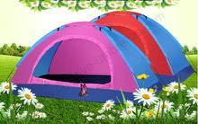 1-2 persons anti-uv windproof anti-thunder flexible fiberglass colorful outdoor rainproof vented compact tents