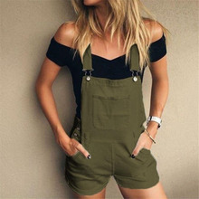 Jean Shorts Overalls Cargo-Pants Summer Women Fashion Lugentolo Leisure Double-Shoulder