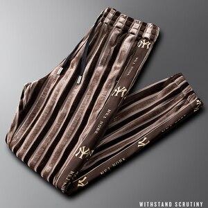 Light luxury striped gold velv