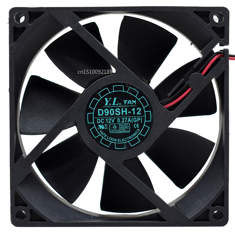 FOR D90SH-12 9025 90mm 9cm DC 12V 0.27A 2 Line Chassis Cooling Fan Free Shipping