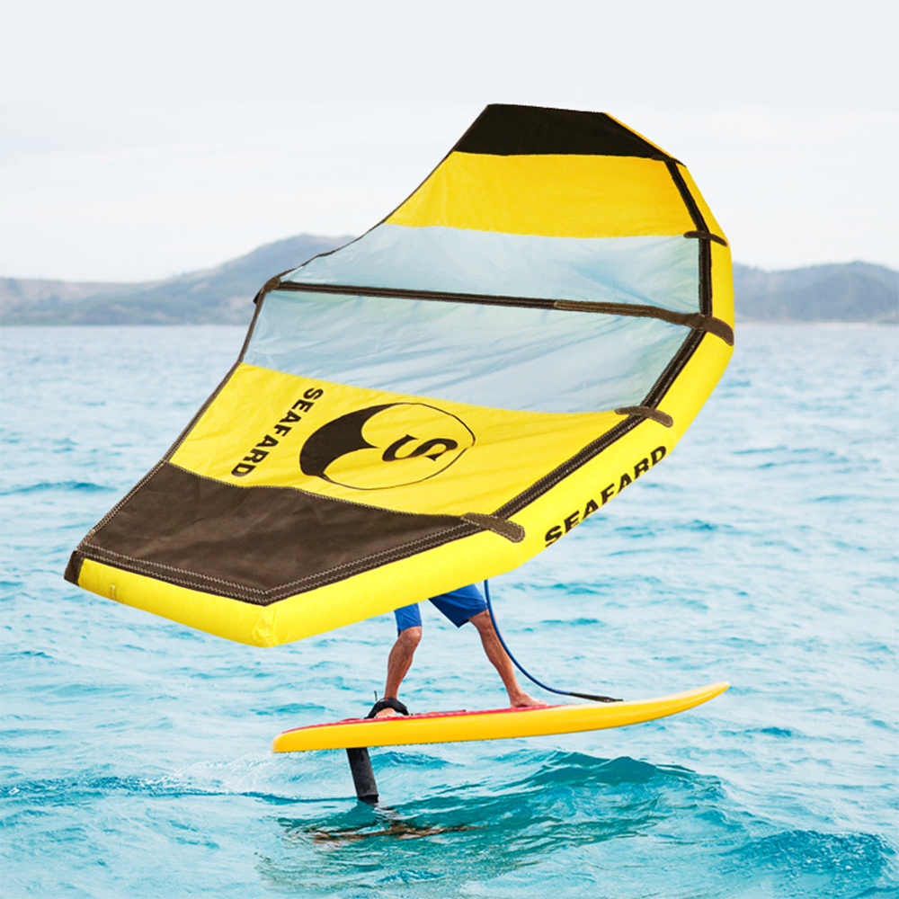 Foldable Windsurfing Inflatable Kite Kiteboarding Wing For Water/Land Flying Shortboard Funboard