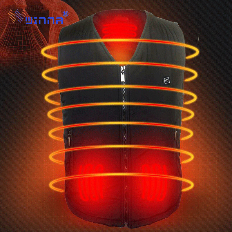 Best Gift Heating Vests Battery Camping Hiking Vests for Men Women Sking Hunting Cutton Heated Clothing Black Size Adjustable in Hiking Vests from Sports Entertainment
