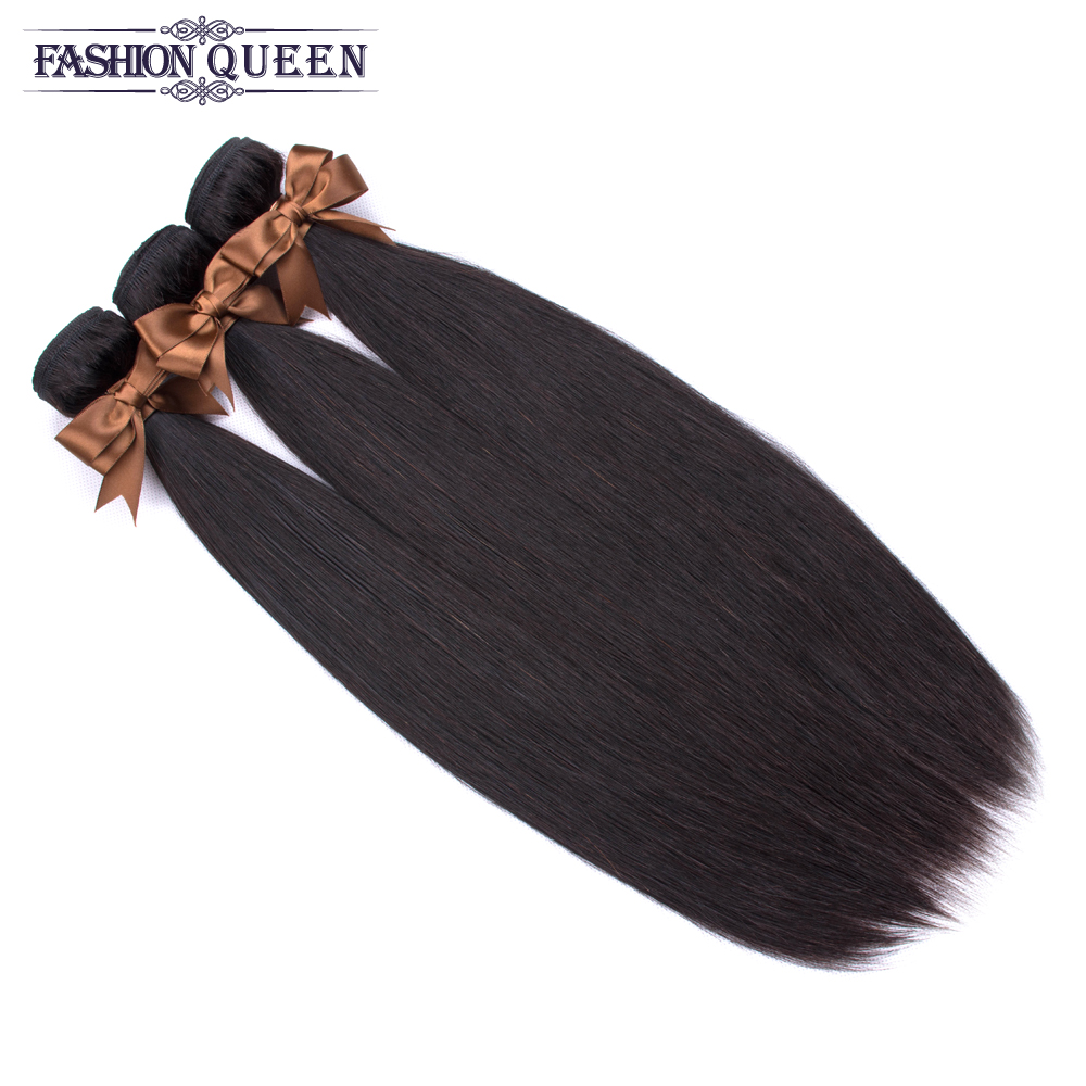 Hf5013152511e4ccf86cf972d67c519c8M 3 Bundles With Frontal Brazilian Straight Human Hair Weave Bundles With Closure Lace Frontal Non Remy Hair Fashion Queen