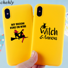 Happy Halloween Phone Case for iPhone X XR XS Max 8 7 6 S Plus demon Cases Soft Silicone Fitted Mobile Accessories Covers