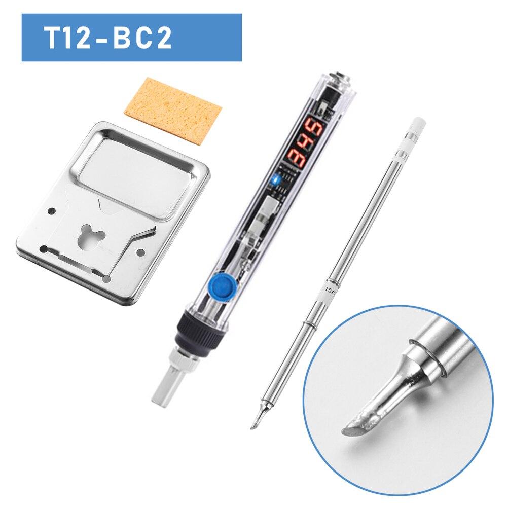 75 Вт высокой мощности быстрого нагрева T12 паяльник цифровой дисплей паяльник поддерживает DC12V-24V использовать T12 паяльник наконечник