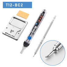75W high-power quick-heat T12 soldering iron digital display soldering iron supports DC12V-24V use T12 soldering iron tip