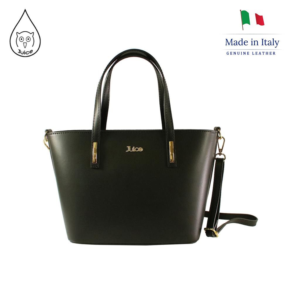 Juice Brand, Genuine Leather Bag Made In Italy, Casual Tote Bag 037.412