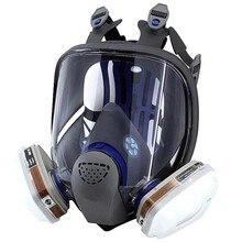 7 em 1 FF-402 ultimate fx completa peça facial respirador reusável anti-gás dustproof spray pintura química ácido alcaloide sputter máscara